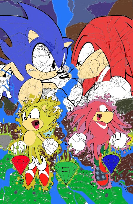 Knuckles Vs Son...