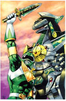 Green Ranger and Dragonzord