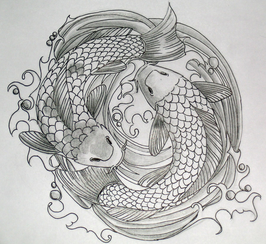 dancing koi tattoo by dvampyrelestat on deviantart. Black Bedroom Furniture Sets. Home Design Ideas