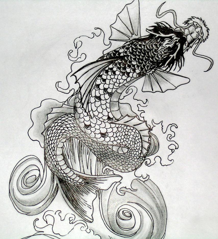 Koi Dragon by dvampyrelestat