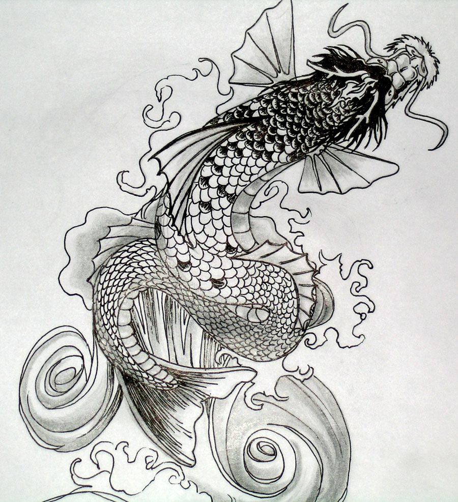 Koi dragon by dvampyrelestat on deviantart for Sick koi fish