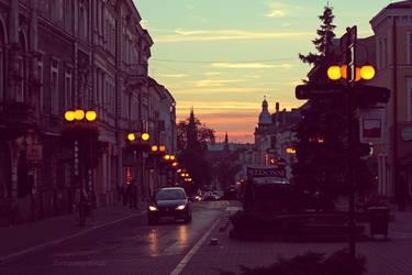 Walking Down The Street by dreamyana