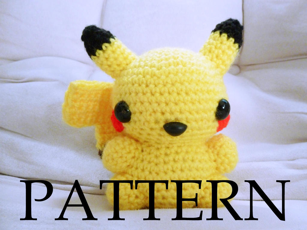 Amigurumi Pokemon Patterns Free : Pikachu amigurumi pattern version by the love of crochet on