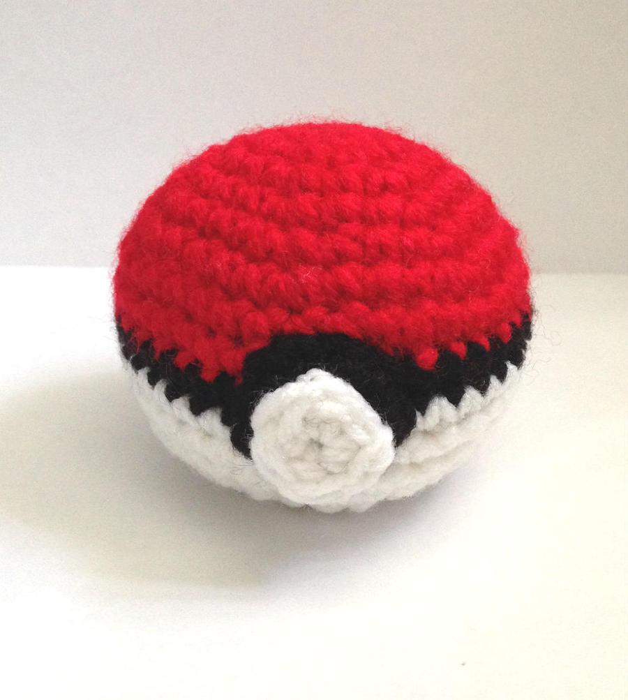 Pokeball Amigurumi : Pokeball Amigurumi by The-love-of-Crochet on DeviantArt