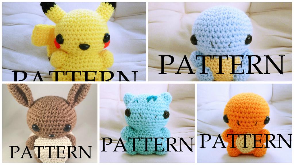 Amigurumi Pokemon Pattern Pack of Five by The-love-of-Crochet on ...