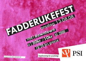 PSI: Fadderukefest - Flyer