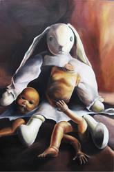 stuffed bunny by Tat442