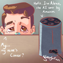 Connor, meet Alexa by ALonelyFinn