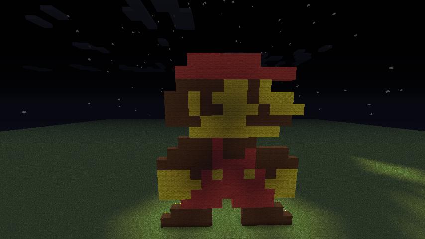 Mario Minecraft Pixel Art By RKMartin ...