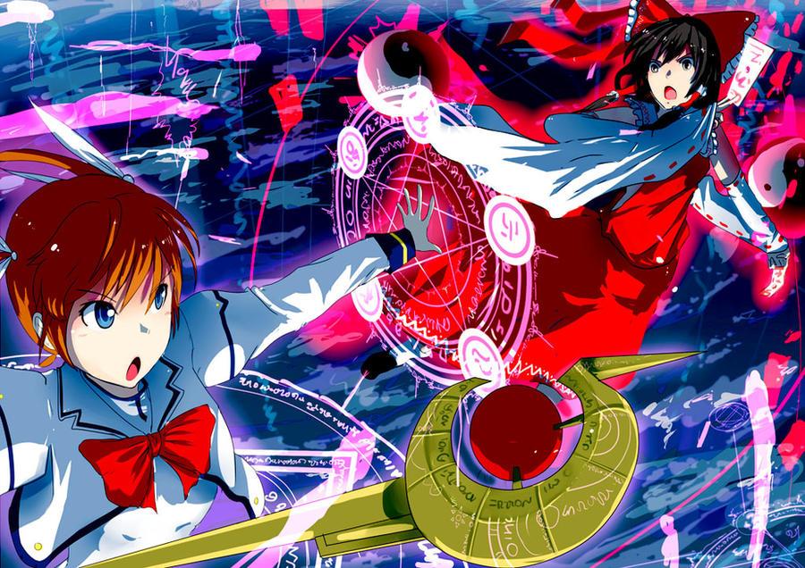 Nanoha VS Reimu by SwordwaltzWORKS