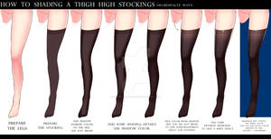 HOW TO SHADING THE THIGH HIGH STOCKINGS