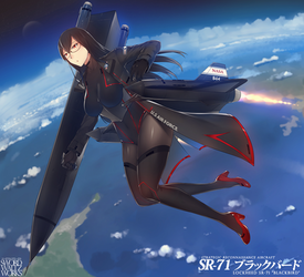 SR71 BlackBird-chan by SwordwaltzWORKS