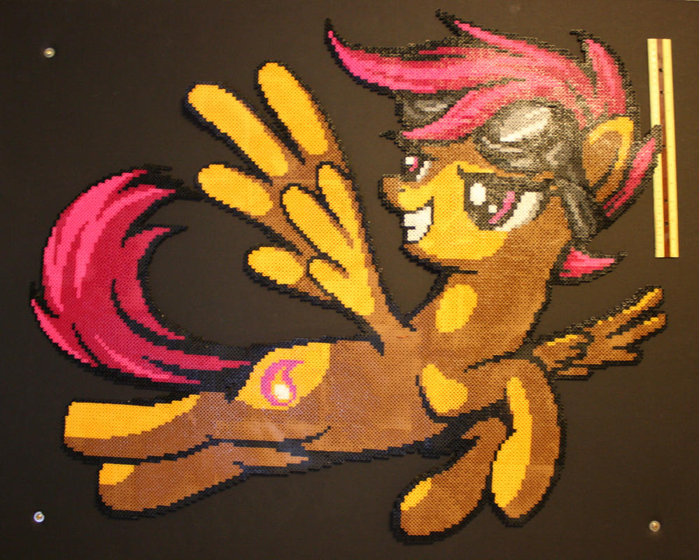 Scootaloo Perler by Claymmdude
