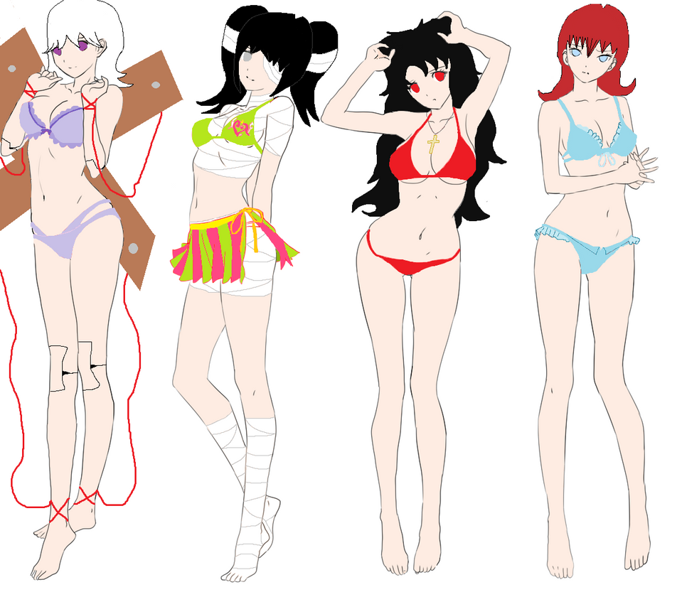 Beach Time with Gravedale High Girls by Moonfang77