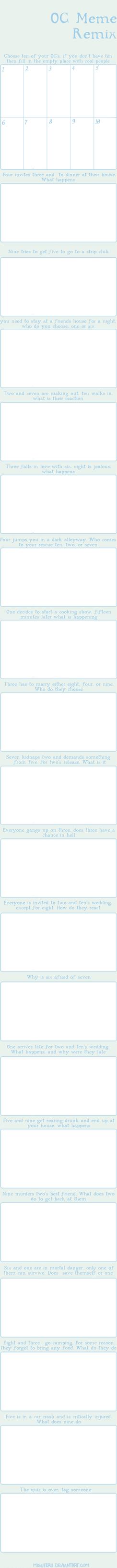 OC Meme Remix Blank by Misuteru