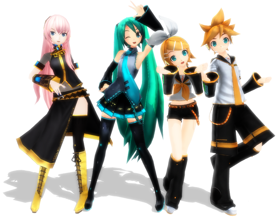 I love project diva models by mikuhime on deviantart - Kagamine rin project diva ...