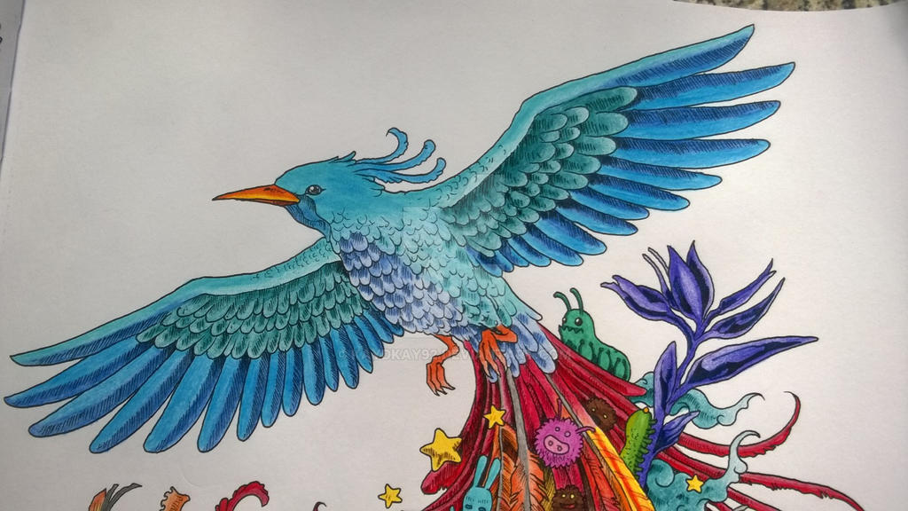 Animal Morphia Colouring Book Animorphia Coloruing Bird 3 By Kaydkay92 On DeviantArt