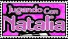 Jugando con Natalia stamp by Serranista