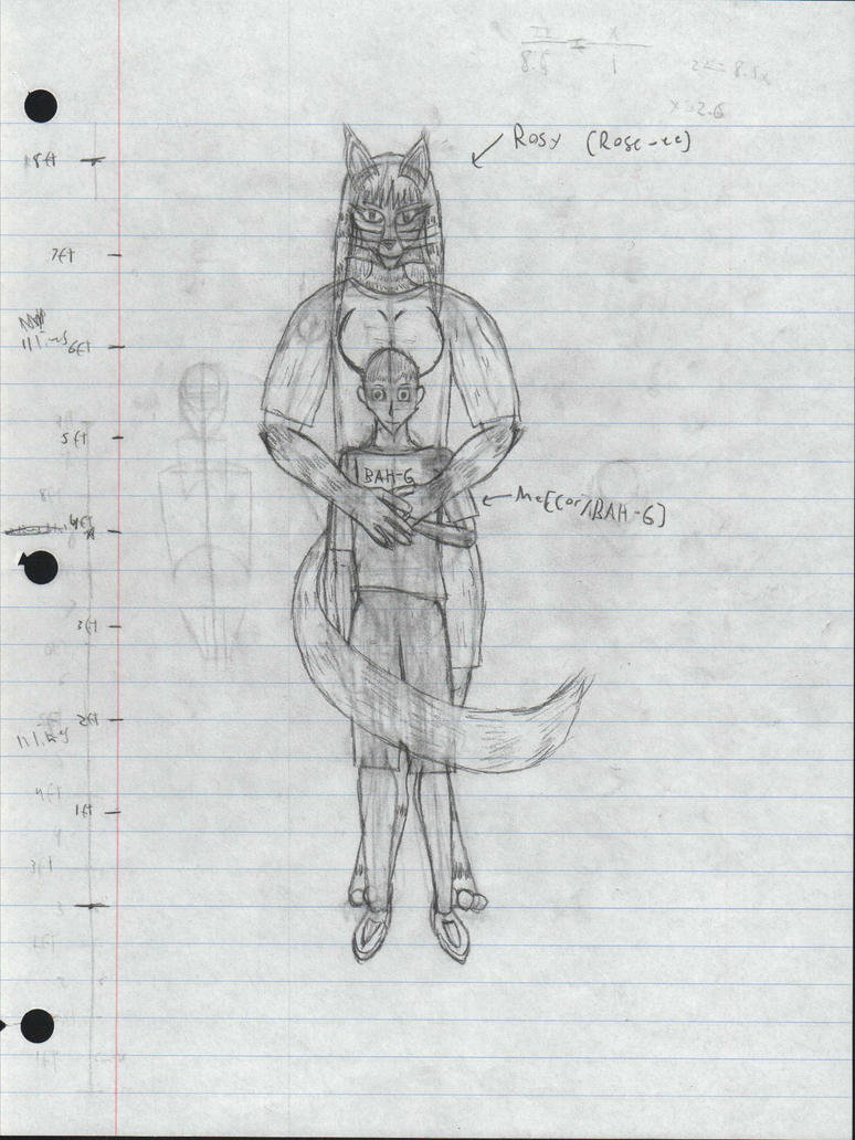 Rosy And Me Front View Sketch by Speciesunkn0wn