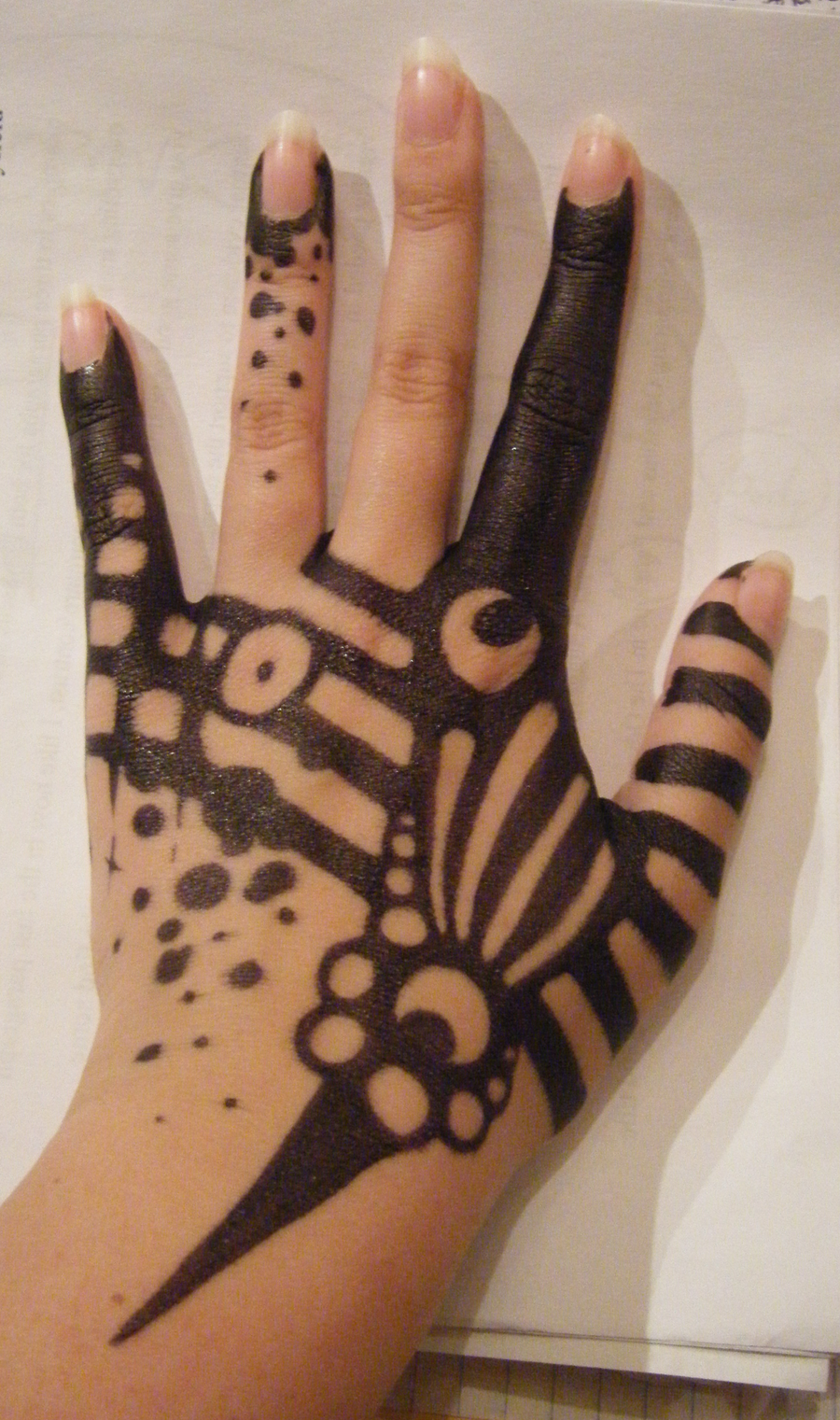 Sharpie tattoo 3 by littleiggydog on deviantart for Cool designs to draw on your hand