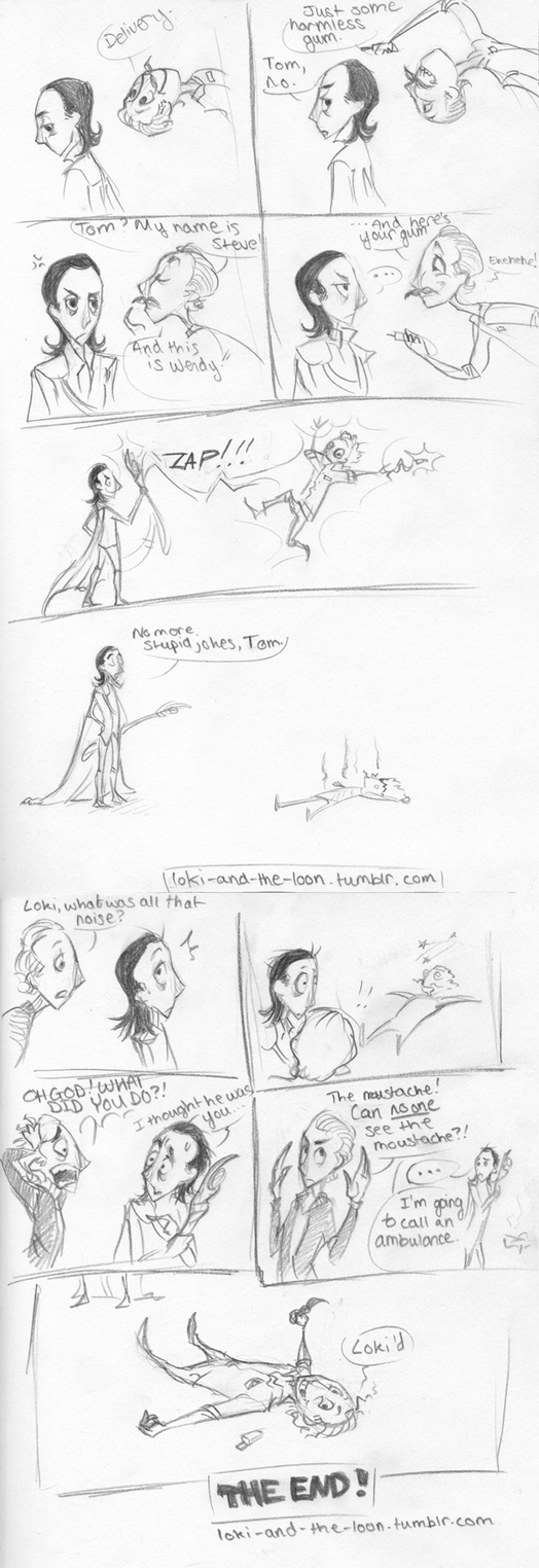 Loki and the Loon fancomic by LittleIggyDog
