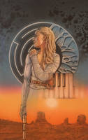 Dolores of WestWorld  by saintworksart