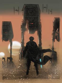 Luke vs The First Order. Star Wars