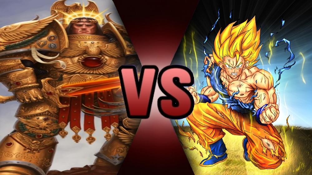 God Emperor Of Mankind Vs Son Goku By Ssj4truntank by Mr-AD