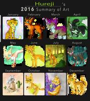 Hureji's 2016 Summary of Art by Hureji