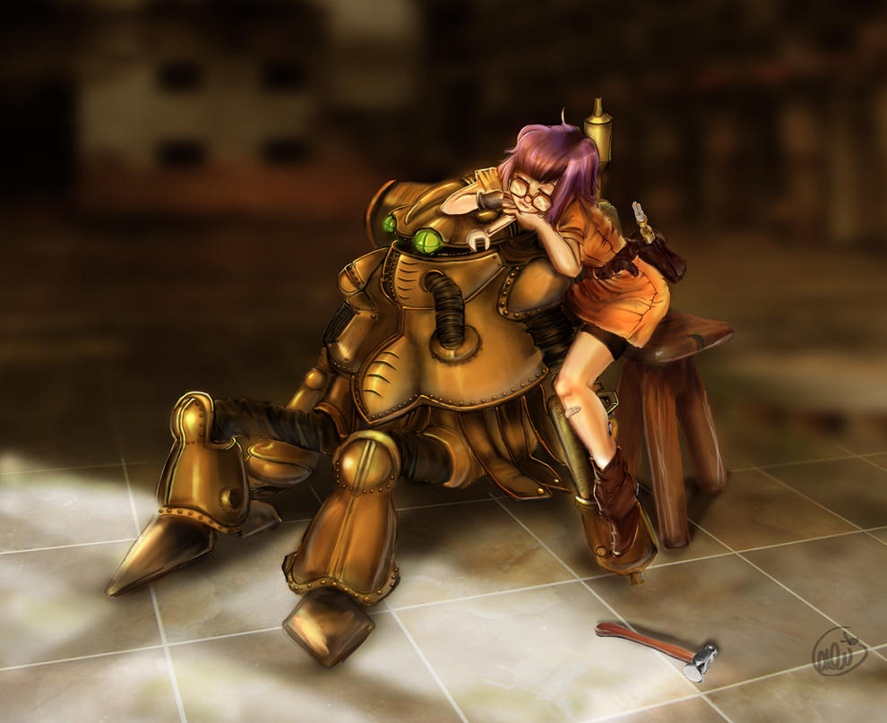 Robo and Lucca by AstuteObservations