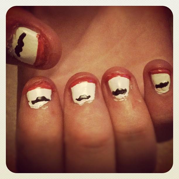 Moustache nail art by lydiabrandx0789 on deviantart moustache nail art by lydiabrandx0789 prinsesfo Choice Image