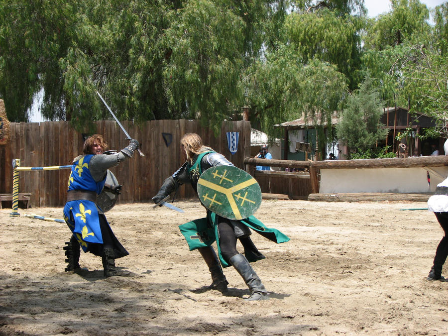 More Knight Joust Stock 014 by tursiart