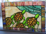 Stained Glass Sea Turtles