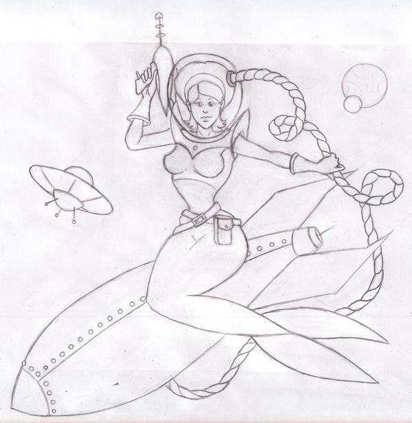 Line Art Xl 2010 : Space cadet mermaid line art by tursiart on deviantart