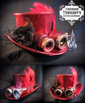 Steampunk Top Hat and Goggles