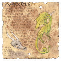 Dragons on Parchment by tursiart