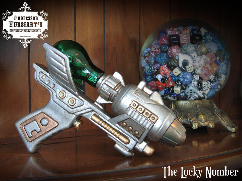 The Lucky Number Ray Pistol by tursiart