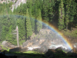 Free Stock Yosemite Rainbow by tursiart