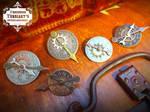 Steampunk Clockface Gear Brooches