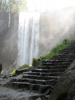 Free Stock Waterfall Stairs 3 by tursiart