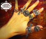 Steampunk Spinny Gear Rings