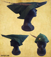 Medieval Woodsman Robin Hood style hat 2 by tursiart