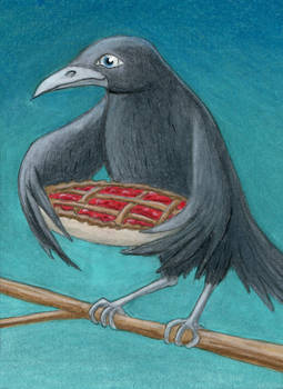 Blackbird Baking a Pie
