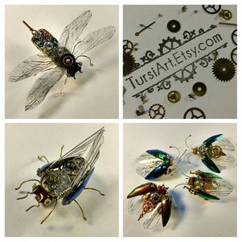 Clockwork Bugs by tursiart