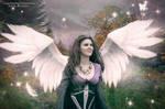 Autumn Angel Charm