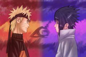 Naruto vs Sasuke by Amaterasu-kun