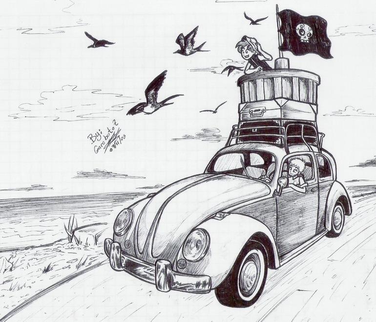 Vocho Pirata by Garabatoz