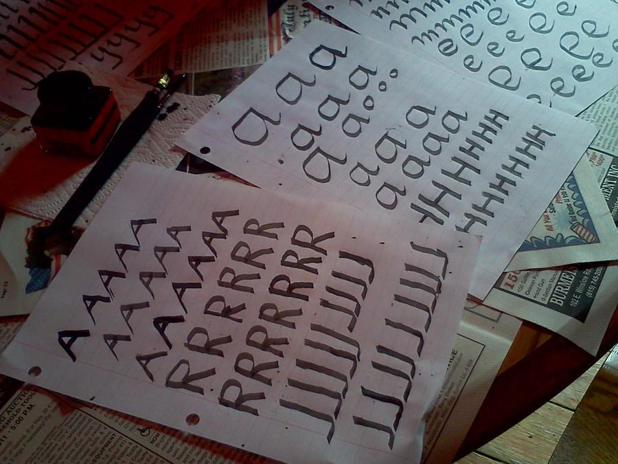 Calligraphy work by fairypower on deviantart