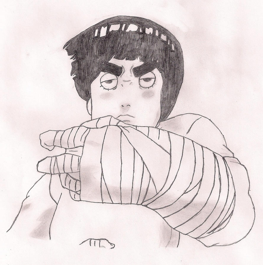 Rock Lee Drawing 3 by ThisEscape on deviantART