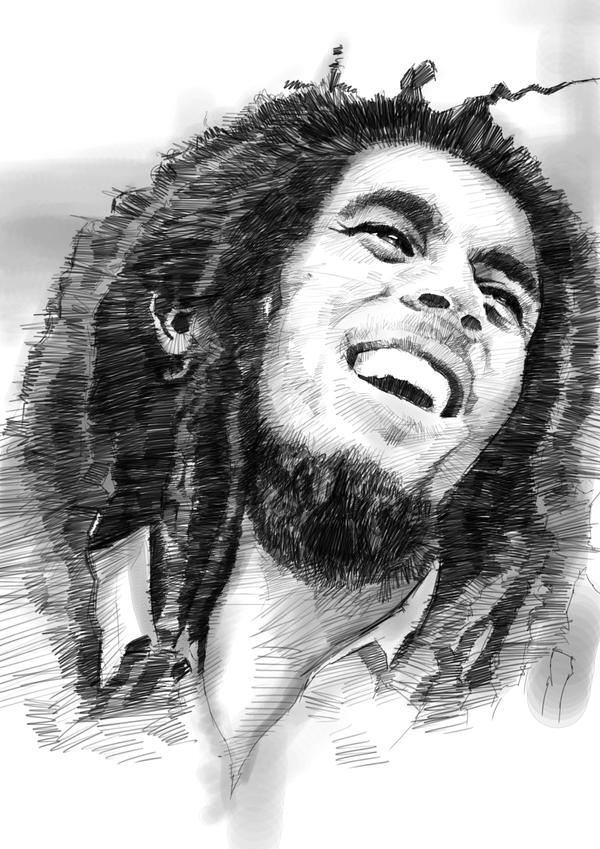 Bob Marley sketch by g...